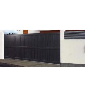portails coulissants droit et plein en aluminium plusieurs finitions disponible