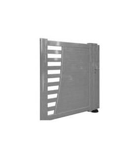 Portillon de jardin aluminium à brise vue