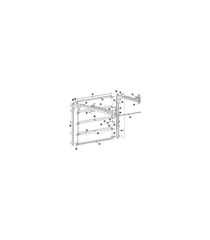 Novoferm pièces détachées (kit support et roulettes hautes ressorts arrière)