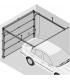 Novoferm pièces détachées (kit support et roulettes hautes pour porte garage ISO 45 (avec ou sans portillon ressorts arrière)