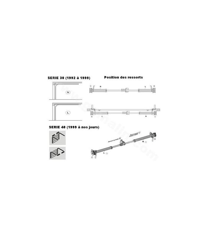 Ressort adaptable pour porte sectionnelle L 705 (droit et/ou gauche)