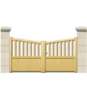 portails droit en aluminium cintre inversé
