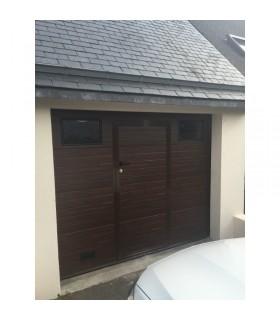 Porte de garage sectionnelle plafond avec portillon