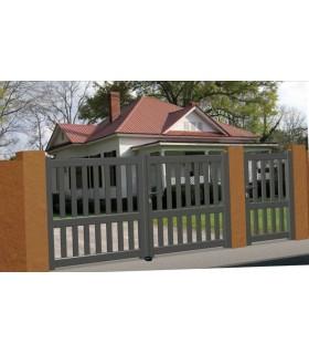 portails droit en aluminium barreaude