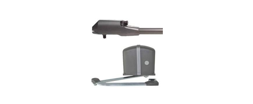 Motorisation de portails battants par bras articulés vérins ou moteurs enterres