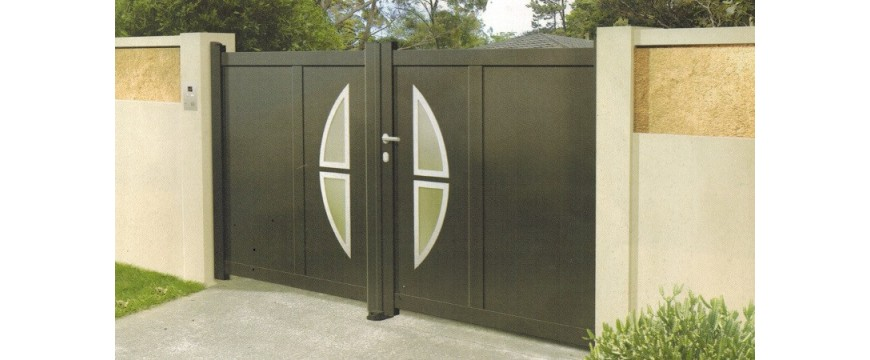 portail battant aluminium gamme design portugal