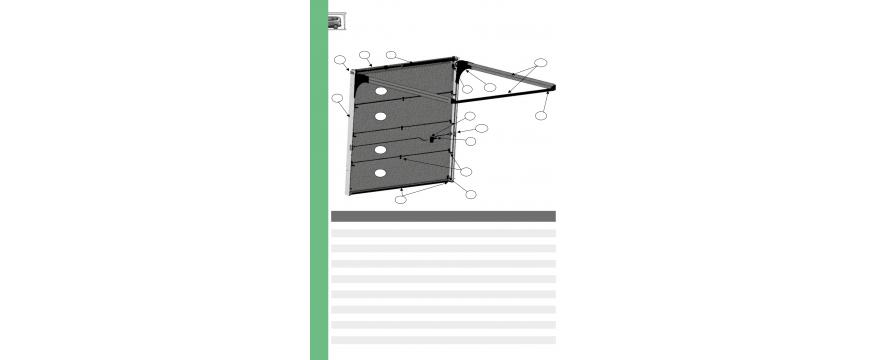 Novoferm porte sectionnelle MAEVA 2 B (Fabriquée de septembre 2004 à février 2008)